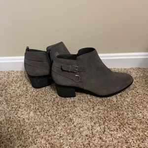 Cute Gray Ankle Booties